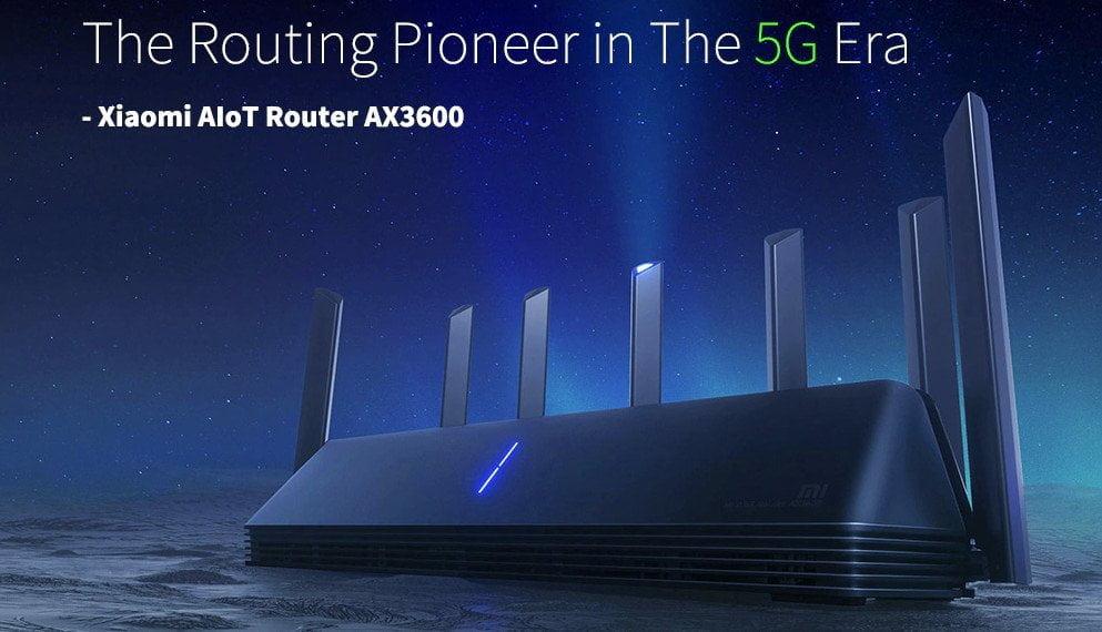 Xiaomi AX3600 WiFi 6 router.