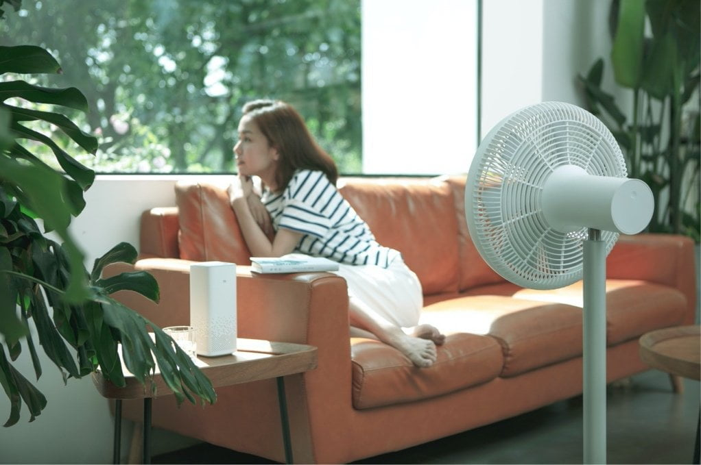 De Smartmi staande ventilator 3 met effectieve luchtcirculatie.