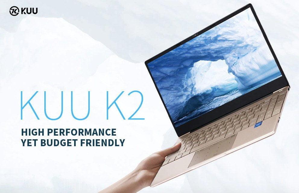 Ordinateur portable KUU K2 dans un boîtier en aluminium de haute qualité.