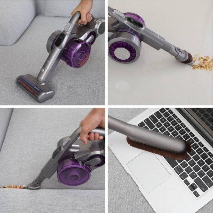 Ook praktisch te gebruiken als handstofzuiger.