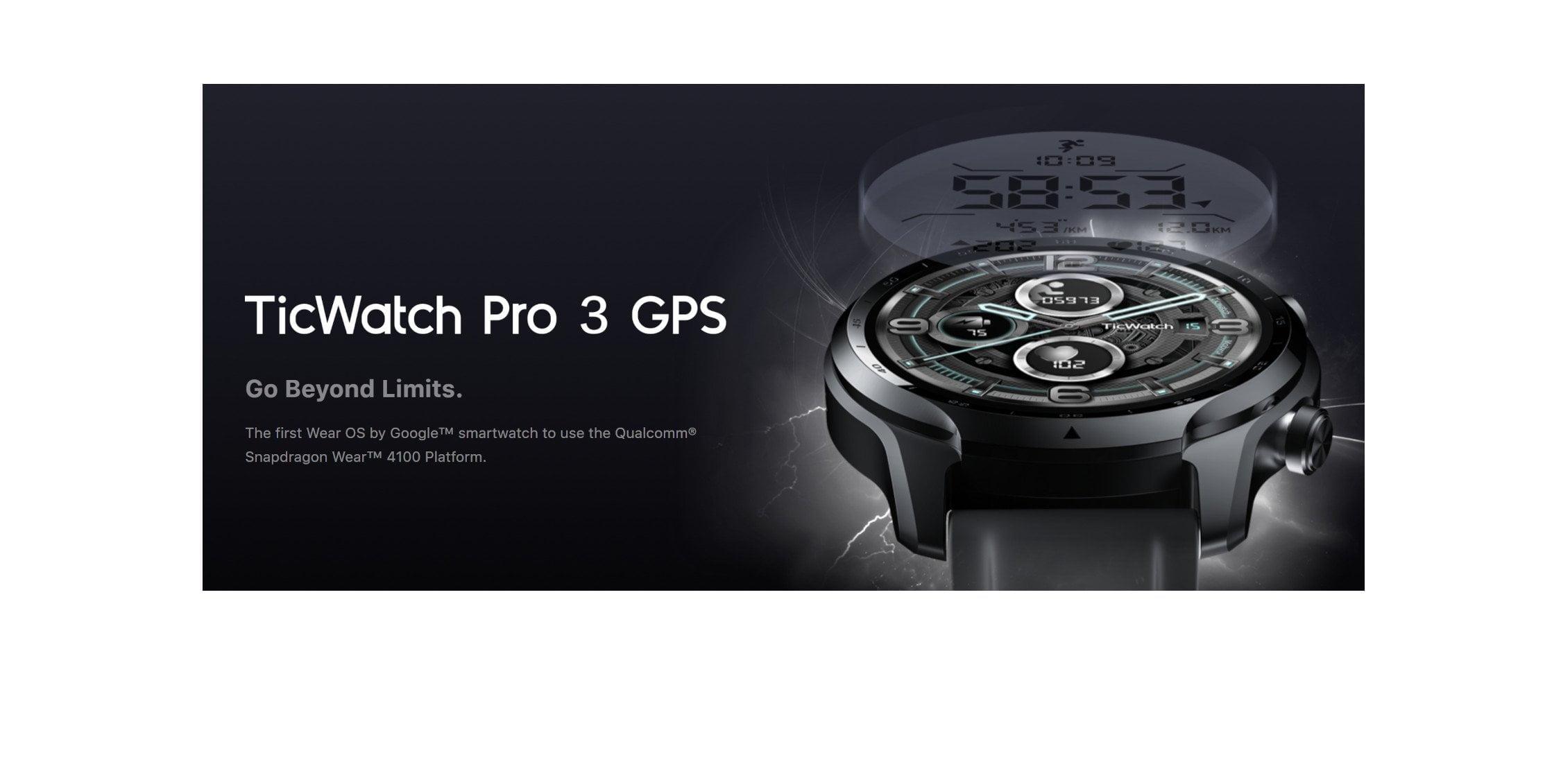 TicWatch Pro 3 GPS Smartwatch with Wear 4100