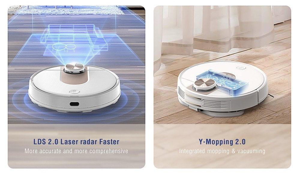 VIOMI SE vacuümrobot LDS 2.0 en Y-mopping