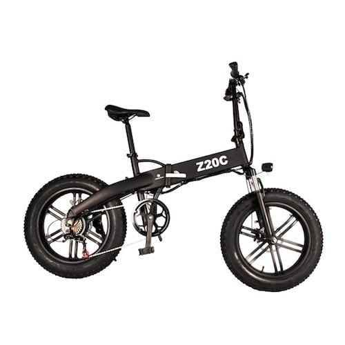 Uma bicicleta elétrica Dece Oasis ADO Z20C 350W dobrável para pneus gordos com bateria de íon-lítio 36V 10Ah