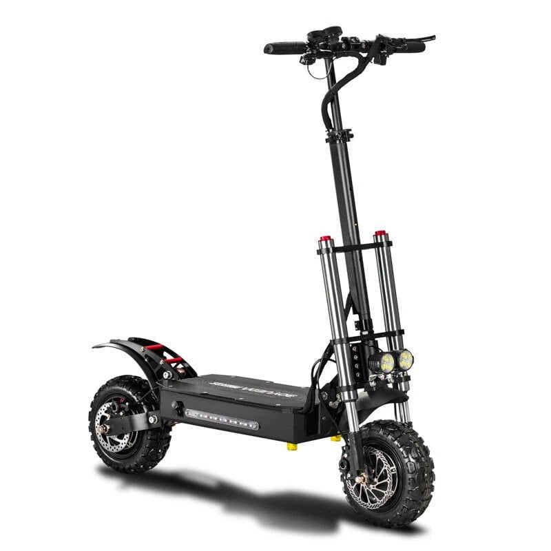 BOYUEDA 28.6AH 60V 5400W Scooter électrique pliant à double moteur 11 pouces 85 km / h Vitesse maximale 110-130 km Plage de kilométrage Charge maximale 400 kg
