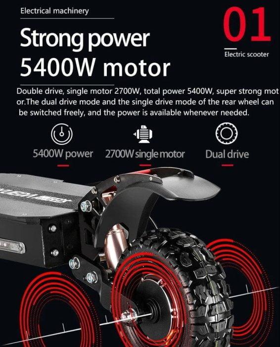 Skuter BOYUEDA podwójny silnik 5400W