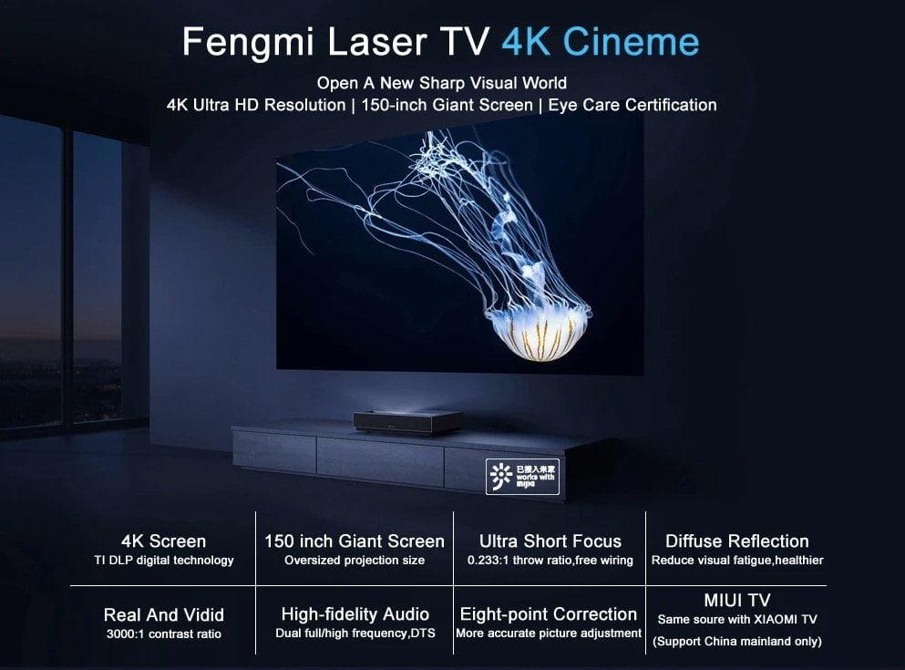 מפרטי Fengmi 4K Cinema Pro
