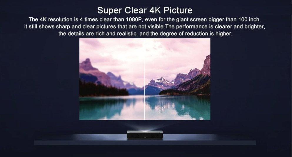 תצוגת 4K קולנוע פרו Fengmi 4K ברזולוציה גבוהה