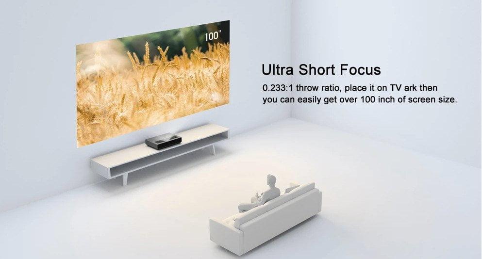 Fengmi 4K Cinema Pro UST מרחק קצר