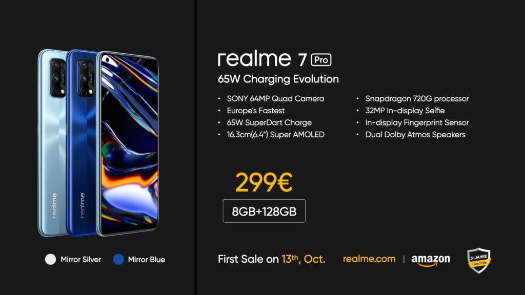 Présentation, prix et disponibilité de Realme 7 Pro