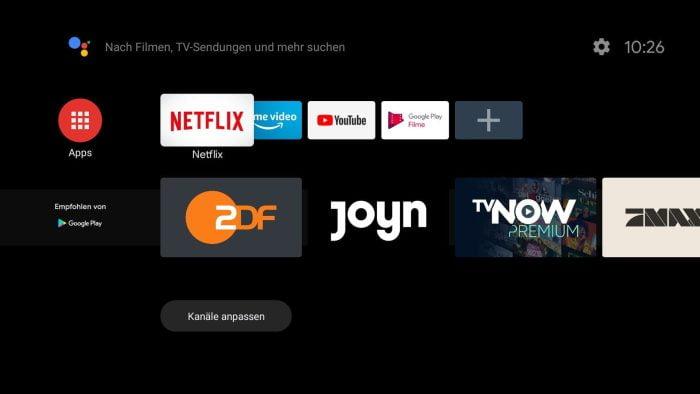 Ekran główny Android TV