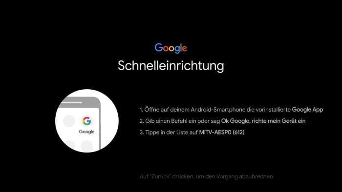 Szybka konfiguracja Android TV