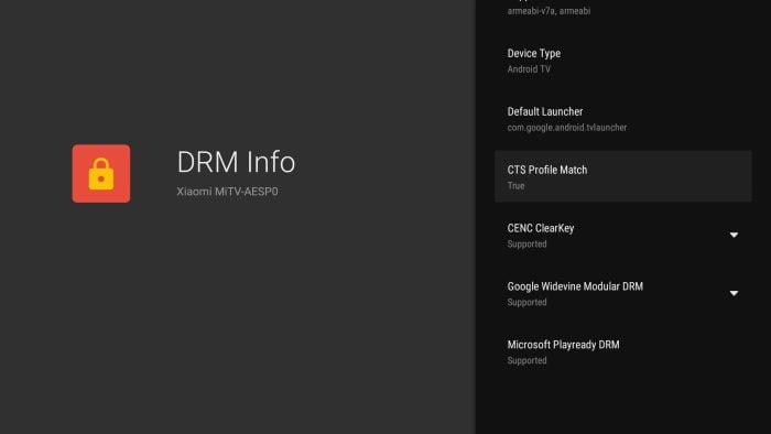 Certyfikaty Xiaomi Mi TV Stick DRM