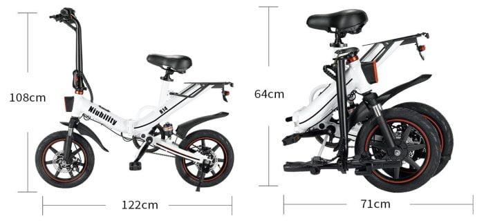 Niubility B14 E-Bike Größe