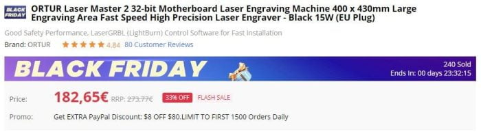 Kupte si ORTUR Laser Master 2 na Gearbestu.