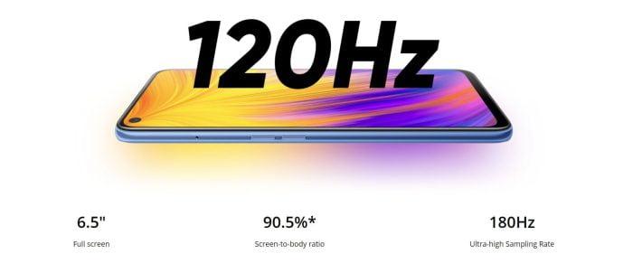 Specyfikacje wyświetlacza Realme 7 5G