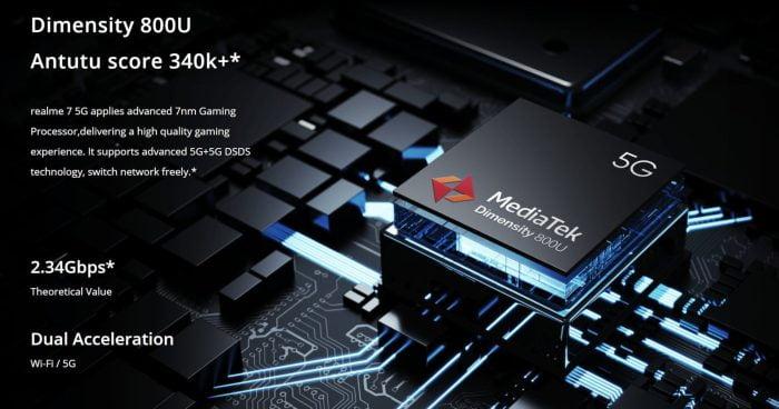 Realme 7 5G MediaTek Wymiary 800U