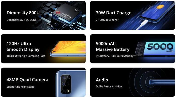 Realme 7 5G Ausstattung und Funktionen im Überblick