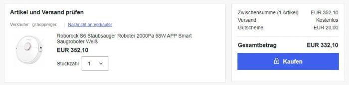 Compre o robô a vácuo Roborock S6 no eBay.