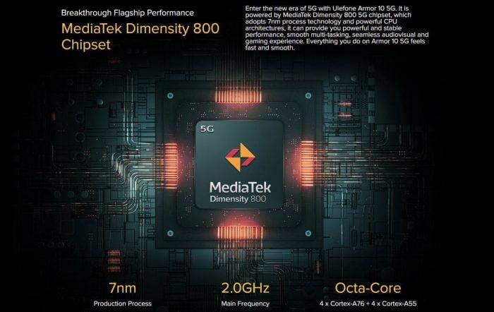 Specyfikacja MediaTek Dimensity 800