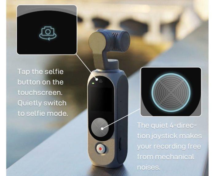FIMI Palm 2 joystick og selfie-knapp