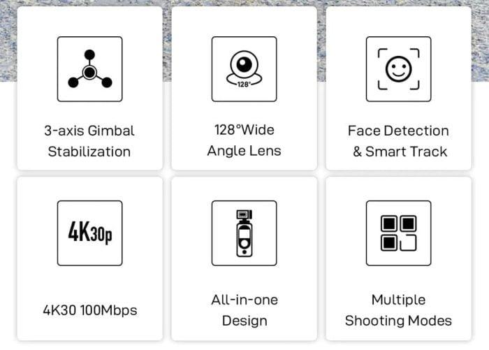 FIMI Palm 2 tekniske data