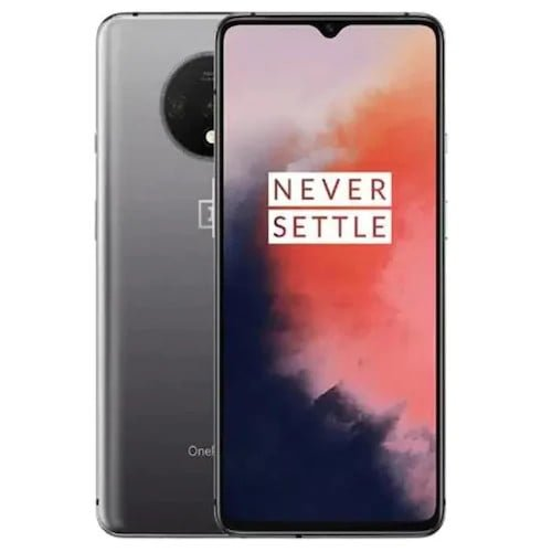 OnePlus 7T Smartphone Dual SIM 6.55inch AMOLED Screen Snapdragon 855 Plus Octa Core 48MP Triple Camera NFC UFS 3.0 Global Version Mobile Phone - Silver 8GB 128GB