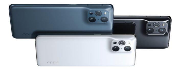 OPPO Find X3 Pro traseiro brilhante preto azul branco