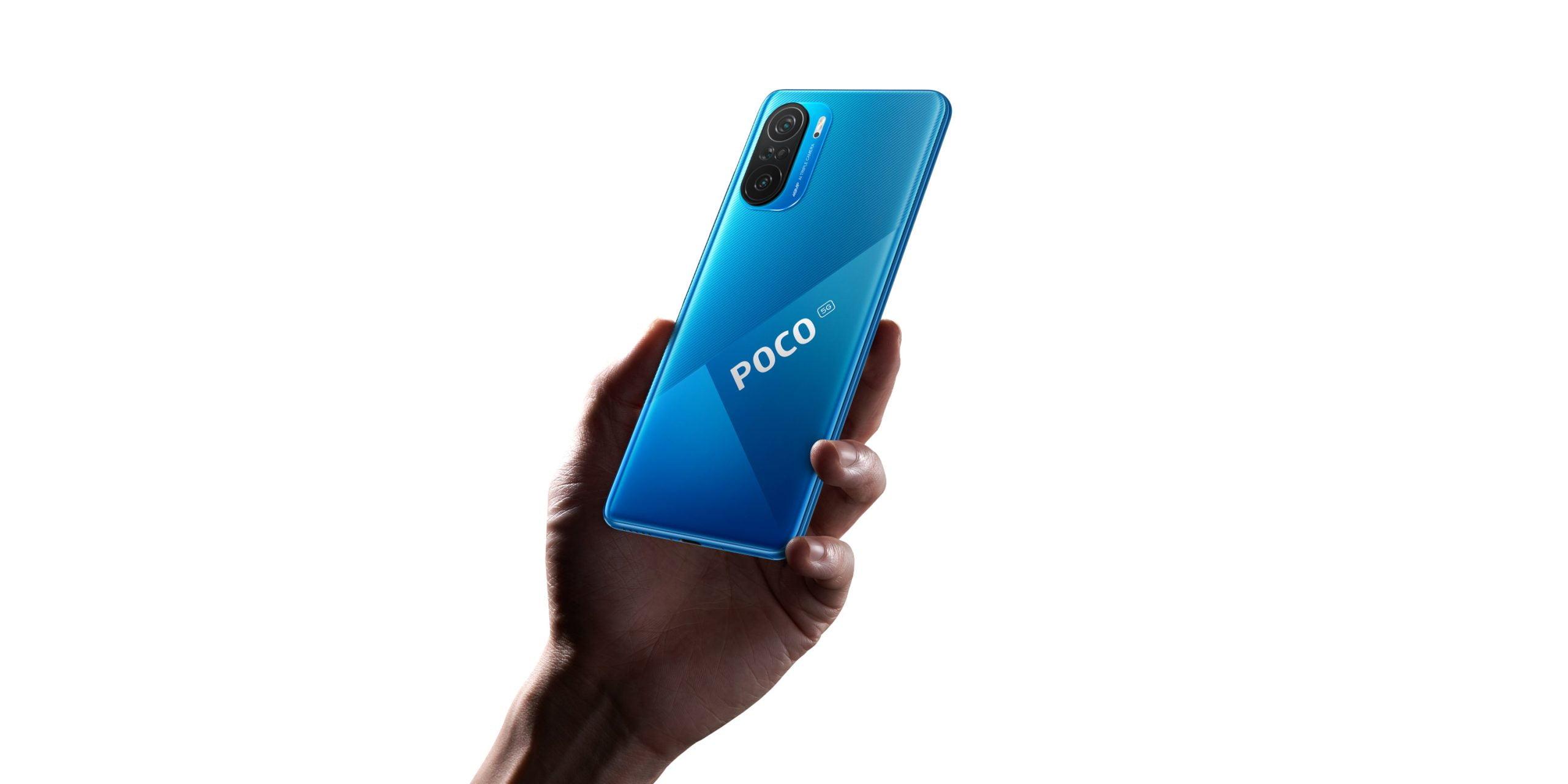 Niebieska nagłówek do smartfona POCO F3