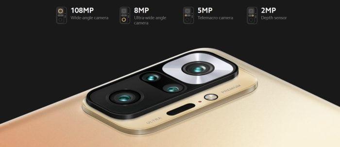 Câmera Redmi Note 10 Pro 108MP