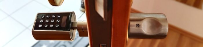 WE.LOCK door lock installed in apartment door