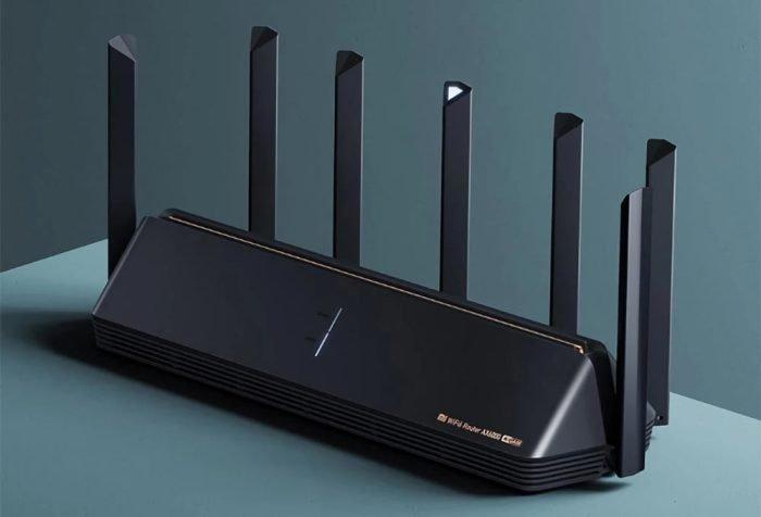 Xiaomi AX6000 WiFi 6E router with 6000 Mbit / s, 7 antennas, 4K QAM, WPA3-SAE