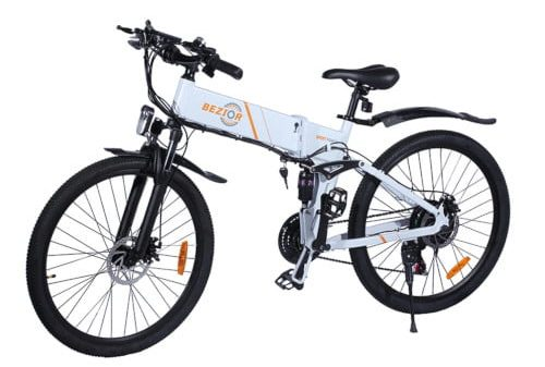 EZIOR M26 Folding Electric Bike 48V 10Ah Battery 500W Brushless Motor 26 inch Tire Aluminum Alloy Frame Shimano 7-speed Shift Max Speed 30km/h LCD Meter Disk Brake