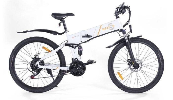 BEZIOR M26 E-Bike Elektrofahrrad mit 500W Motor Rahmen von der Seite