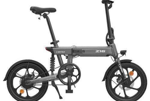 HIMO Z16 אופניים חשמליים מתקפלים 16 inch 250W מנוע עד 80km טווח מהירות מקסימלית 25km / h 10Ah סוללה נשלפת IPX7 עמיד למים תצוגה חכמה בלם דיסק כפול גרסה גלובלית