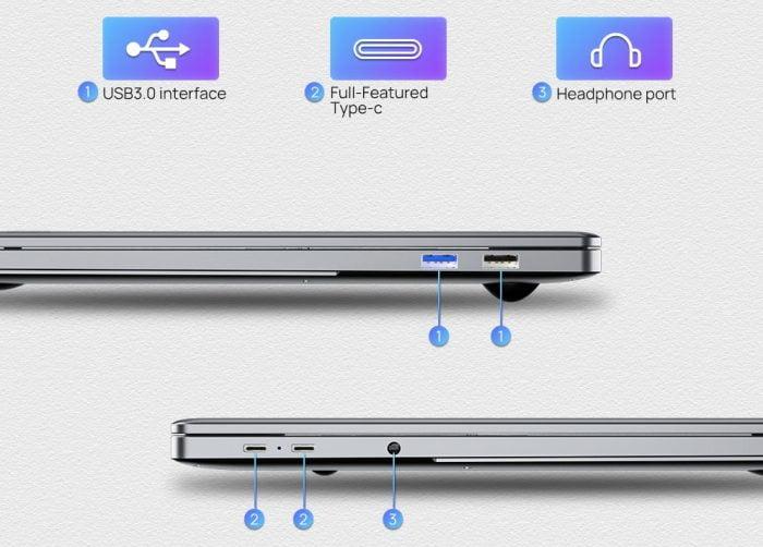 KUU Laitnin G3 notebook ports