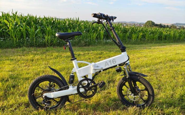 Teste de revisão de bicicleta elétrica dobrável ADO A16 E-bike