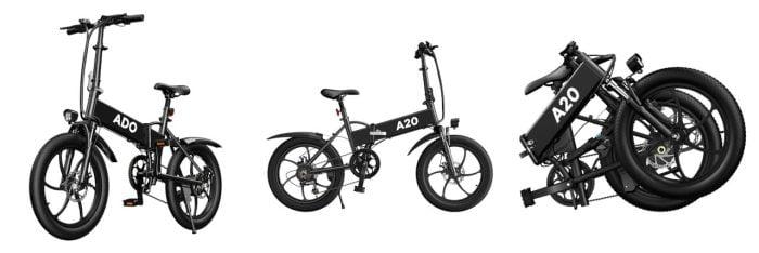 Visão geral da e-bike ADO A20