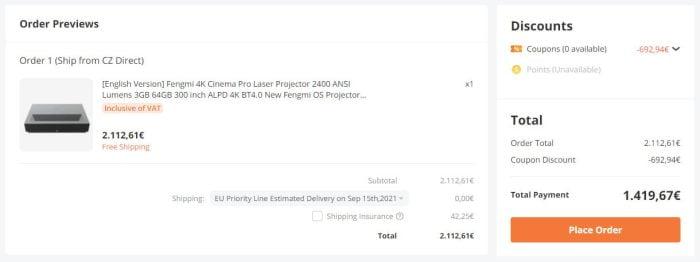 קנה מכונת לייזר Fengmi 4K בנגגוד.