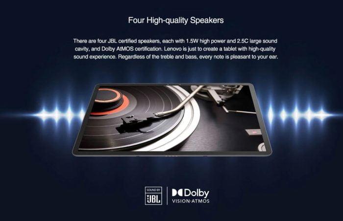 Sistema de alto-falantes Lenovo XiaoXin Pad Pro JBL com Dolby Atmos