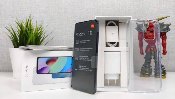 Conteúdo de entrega do smartphone Redmi 10