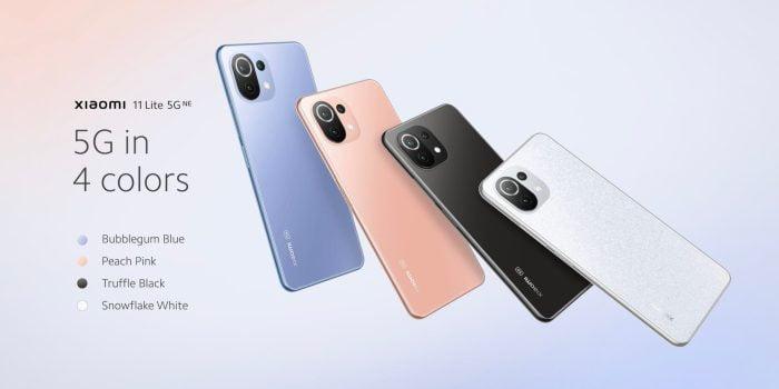 צבעי Xiaomi 11 Lite 5G NE