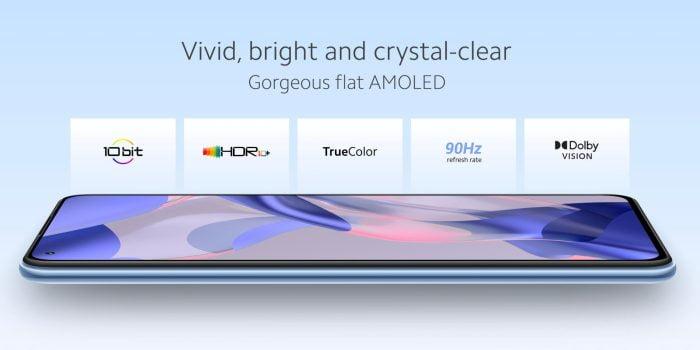 תכונות תצוגה של Xiaomi 11 Lite 5G NE AMOLED