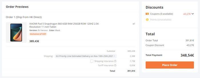 Xiaomi Pad 5 продается на Banggood.
