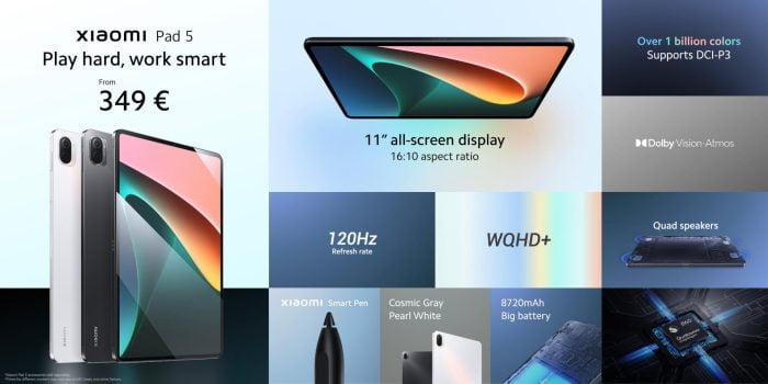 Επισκόπηση όλων των λειτουργιών του Xiaomi Pad 5